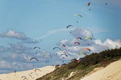 Chassé-croiser au dessus de la dune du Pilat. (Philippe Macabiau) Tags: dunedupilat petitnice pyla ocean bassindarcachon parapente
