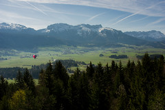Lans En Vercors plains (Vol'tordu) Tags: rhônealpes isère alpes frenchalps alps mountains forests airballoon flying aerial shot snow spring