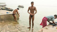 Bath-20.jpg (Karl Becker Photography) Tags: india varanasi ganges river nikon bath youngman boy man shirtless