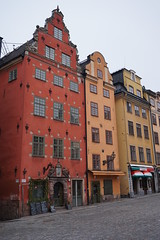 Stortorget in the Old Town, Stockholm, Sweeden (mattk1979) Tags: stockholm sweeden europe winter snow cold grey outdoors city buildings urban gamlastan old town stortorget square cobbled street historic