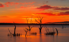 Lake Fyans sunrise (raykowalski) Tags: water lake victoria melbourne canon lakefyans australia grampiansnationalpark sunrise
