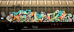 graffiti on freighttrains (wojofoto) Tags: amsterdam nederland netherland holland graffiti streetart cargotrain vrachttrein freighttraingraffiti freighttrain fr8 wojofoto wolfgangjosten funk