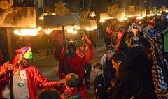 Orpheus Flambeaux (BKHagar *Kim*) Tags: bkhagar mardigras neworleans nola la parade celebration people crowd beads outdoor street napoleon uptown night orpheus kreweoforpheus flambeau flambeaux fire carriers