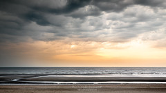 panorama beach (ylemort) Tags: sea beach sunset nature cloudsky sky sand coastline outdoors water cloudscape summer dusk wave sunlight nopeople sun scenics landscape horizonoverwater everypixel koksijde kust canon canon5dmkiv