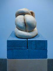 Bottom Blue (Steve Taylor (Photography)) Tags: bottom blue breezeblock sarahlucas nudcycladic1 sculpture art grey cream block artgallery strange odd weird crazy mad newzealand nz southisland canterbury christchurch shape 1 gallery nudcycladic