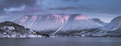 Pink glow (Sizun Eye) Tags: øksfjord finnmark norway sunset glow pink sizuneye fjord mountain nikond750 tamron2470mmf28