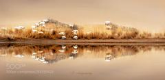 无人打扰 (KevinBJensen) Tags: 白昼 反射 湖 无人 宁静 沙漠