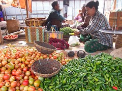 """Market in Nyanung Shwe selling produce from the """"floating"""" garden (yhila) Tags: market people nyaungshwe shan myanmar"""