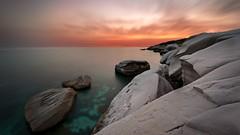 Sunset Wallpaper (fastwallpaperdownload) Tags: coastal cyprus hd ocean rocks seascape sunset