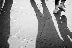 Feet and Shadows (garryknight) Tags: sony a6000 on1photoraw2018 london creativecommons ccby30 foot shadow light shade pavement