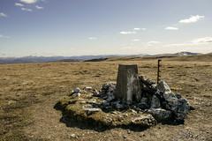 A'Bhuidheanach Bheag Summit (danstephen17) Tags: munros mountains plateau cairngorms drumochter abhuidheanachbheag trigpoint summer summit rocks sky clouds scotland highlands