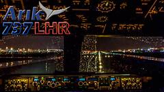 737 FLIGHTDECK Night Takeoff from HEATHROW (JustPlanes) Tags: arik air nigeria boeing 737 737800 night takeoff london heathrow airport pilot pilots pilotseye pilotsviews flightdeck cockpit justplanes