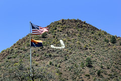 Jerome, Arizona (twm1340) Tags: cleopatra hill us american flag pole flagpole state verdevalley yavapai county eugene jennie winston churchill