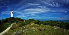 west coast tauranga bay light house 2b (Bilderschreiber) Tags: lighthouse tauranga bay sky himmel neuseeland newzealand südinsel southisland wideangle weitwinkel