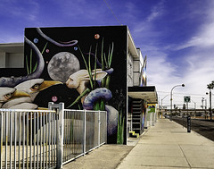 024693763333-97-Wall Art Downtown Las Vegas-2 (Jim There's things half in shadow and in light) Tags: 2018 america april canon5dmarkiv city lasvegas nevada sigma24105mmf4dg streetphotography usa downtown spring streetart art moon sky architecture bird sidewalk