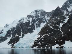 A small Antarctic glacier, at sea level. (Ruby 2417) Tags: glacier ice snow antarctica antarctic pole polar coast sea ocean