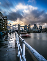 Chasing Bridge Lifts in London (rachel15fuller) Tags: river thames city london photography tower bridge lift long exposure cityscape travel explore urban exploration clouds sky view skyline weather landmark famous rain londra metrolpolis capital metropolitan
