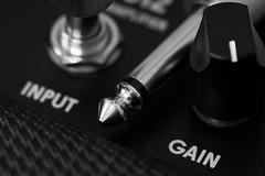 INPUT | GAIN (GlebLv) Tags: a6000 sony macro macromondays plugssockets jack sigma105f28exdgmacro amplifier monochrome bw nb