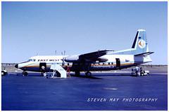 VH-EWQ Fokker F27 East West (SPRedSteve) Tags: vhewq fokker f27 eastwest east west airlines alice springs nt australia 1984 airline airliner
