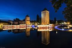 Grande Ile de Strasbourg (Dan_Fr) Tags: strasbourg grande ile tower france europe bluehour twilight dusk reflection bridge sony a7r cityscape historic island travel