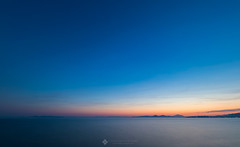 Chasing Colors (csath07) Tags: sunset dusk twilight colors bluehour nature outdoors seascape sea waterscape skyscape sky athens attica coast beach landscape greece april spring cloudsstormssunsetssunrises canon5dmk4 canon sigmaart14mmf18 sigmalens mountains hills wide field nisi ndfilter clouds cirrus