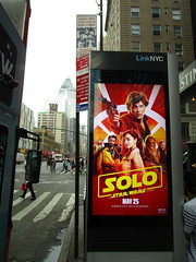 Solo Star Wars Kiosk Poster May the 4th NYC 1395 (Brechtbug) Tags: solo a star wars movie poster parking kiosk alden ehrenreich han donald glover lando calrissian joonas suotamo chewbacca woody harrelson tobias beckett may 4th 2018 new york city portrait portraits eight story space opera film science fiction scifi robot metal man adventure galactic prototype design metropolis standee nyc billboard billboards posters 8th ave 43rd street ad ads advertisement advertisements 05042018 fourth st avenue
