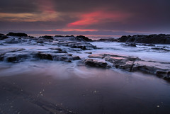 Coastal Cascades (coolnikon) Tags: sunrise seascapes cascades coast rock black pink red nikon d610 24120 ocean sea