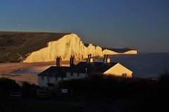 Seaford Head Walk (brightondj - getting the most from a cheap compact) Tags: seafordhead sevensisters cliffs sea cottages 2010s 2017 2017december southdownsnationalpark southdowns