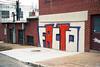 Baltimore Facto (ADMurr) Tags: daa040 baltimore brick wall cement grafitti tag facta red white overcast leica cl 40mm summicron kodak 200 film facto