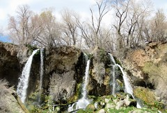 Rifle Falls (Patricia Henschen) Tags: rifle colorado riflefalls statepark coloradoparkswildlife waterfall spring westernslope mountains mountain triple 70 park waterfalls eastriflecreek creek travertine clouds