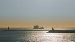 Noordpier Wijk aan Zee (tribsa2) Tags: nederlandvandaag sunrisesunset sunset seaside sky seascape shoreline sea schip ship vessel nederland netherlands noordpier