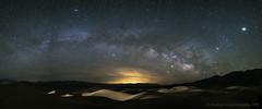 Milky Way (& the Las Vegas Light Noise) (Vladimir Vozdvizhenskiy) Tags: california us travel milkyway night stars deathvalleynationalpark nationalpark deathvalley lightnoise sky landscape mesquiteflatsanddunes fujifilm xt2