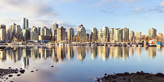 Vancouver Skyline from Stanley Park (Lee Edwin Coursey) Tags: 2018 iphone vancouver canada travel trip britishcolumbia ca city skyline buildings water reflection