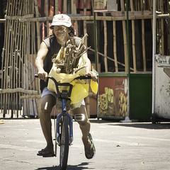 Wood (Beegee49) Tags: street man cycling wood drink silay city philippines