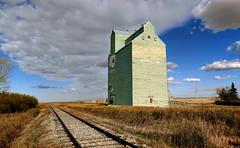 Grain elevator. Herronton Alberta (Bernard Spragg) Tags: grainelevator herronton alberta rural canada lumix outdoors