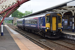 Scotrail/Northern 156456 waits to depart Hexham (The Rail Enthusiast) Tags: trains uk ukrailways ukrailway unitedkingdom ukrailscene hexham hexhamstation class156 class 156 sprinter supersprinter northumberland northern north northernrail northeast br britishrailways britishrail british units train lines tyne tynevalleyline valley line scotrail barbie 156456
