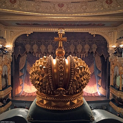Tsarist (peterphotographic) Tags: stpetersburg saintpetersburg russia ©peterhall росси́я санктпетербу́рг photo18032018210713sqedwm mariinskytheatre apple iphone 6s square crown gold theatre ballet tsar curtain stage giselle balcony box orb tsarist instagram