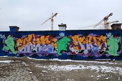 myckl days (Luna Park) Tags: munich germany graffiti viehhof bahnwaerterthiel lunapark construction myckl days cranes snow