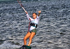 What a smile! (pandt) Tags: smile summer ocean sea water coast sports watersport waves kite board girl outdoor canon eos slr 7d flickr florida pinellas ftdesoto fort desoto park county shaka sport surf surfer