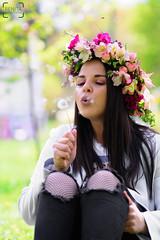 Dream big, dandelion (renkata23) Tags: thespringinyou dandelion lady girl bulgariangirl beautiful beauty colorful colors dreamy amazing nature outdoor nikonbulgaria nikon