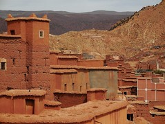 a surviving Berber village (SM Tham) Tags: africa morocco atlasmountains landscape countryside village buildings houses homes earthenarchitecture