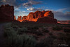 Park Avenue Sunset (ProPeak Photography - Thanks for 600,000 views!) Tags: america archesnationalpark automobile blue blueskies canyon clouds colors famousplace green internationallandmark landmark landscape moab nationalpark nature northamerica orange parkavenue places red road rocks sunset touristattraction travel traveldestination travelandtourism usa unitedstates utah vibrant