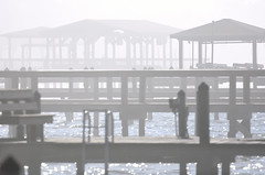 Foggy morning. (Jill Bazeley) Tags: boat docks houses piers ladder ramp jetty pier fog foggy roofs piling merritt island intracoastal waterway indian river lagoon brevard county space coast nikon d7200