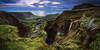 Azores - Faja Grande Panorama (030mm-photography) Tags: rot azoren azores portugal flores fajagrande sonnenuntergang sunset blauestunde bluehour landschaft landscape küste coast klippe cliffs waterfall wasserfall natur nature reise travel