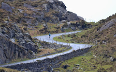 Feeling Small on the S-Bend! (Michael C. Hall) Tags: cyclist beara kerry cork scenic hilly