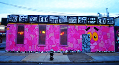 Pink Panther in Brooklyn (Harry Szpilmann) Tags: pinkpanther brooklyn streetart painting wall graffiti streetphotography urban architecture nyc newyork usa