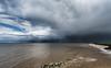 Happisburgh Bay after the rain. (StuMcP) Tags: storm rain sea happisburgh clouds northsea norfolk rocks erosion stuartmcpherson canon5dmkiii angry skies wet