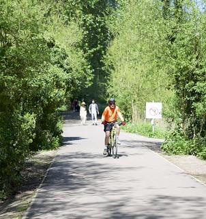 Biking in the sunshine
