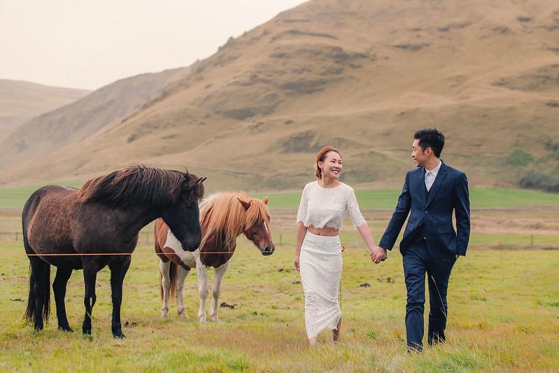 """""""冰島婚紗,冰島,蜜月婚紗,歐洲婚紗,海外婚紗,極光婚紗,冰島馬"""""""
