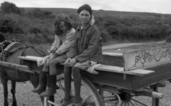 Tinker Family 3 on the Road to Dublin Ireland 1971 by Jack Radcliffe -
